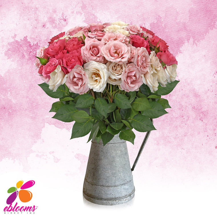 Spray Roses Bouquet Pink