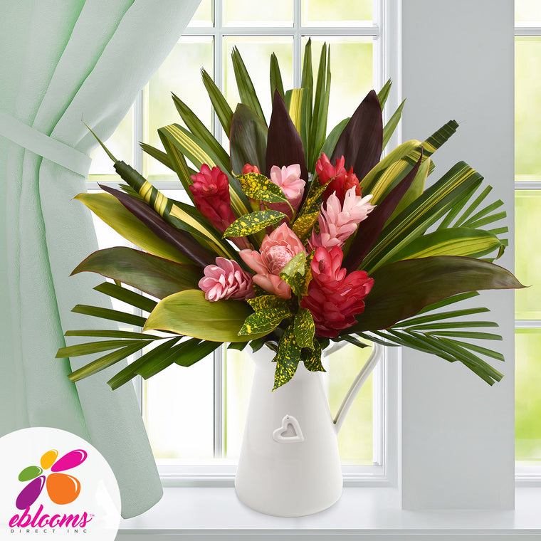 Pink Lady Tropical Bouquet 31 Stems - Pack 2 - EbloomsDirect