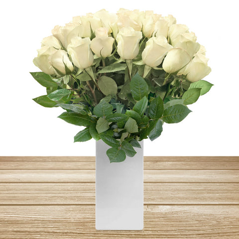 White wholesale rose long stem