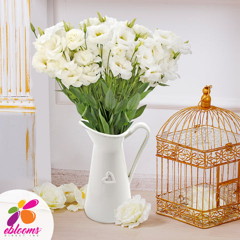 Lisianthus Extra White 80 stem pack 70cm - EbloomsDirect
