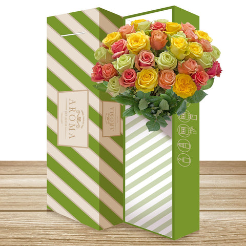 Classic Rose Bouquet Rainbow Pastel