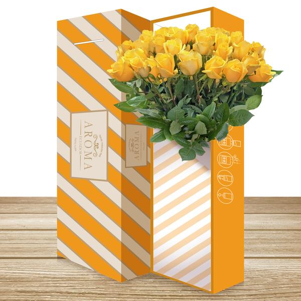 25 CLASSIC ROSE BOUQUET Yellow - EbloomsDirect