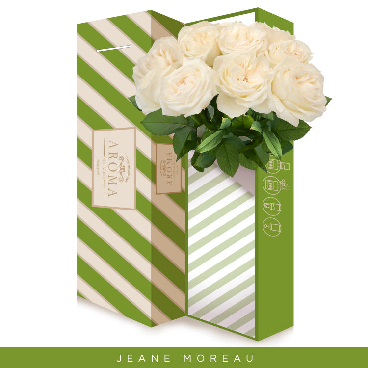 True White Garden Roses - Jeane Moreau - Wholesale Roses - Peonies - EbloomsDirect