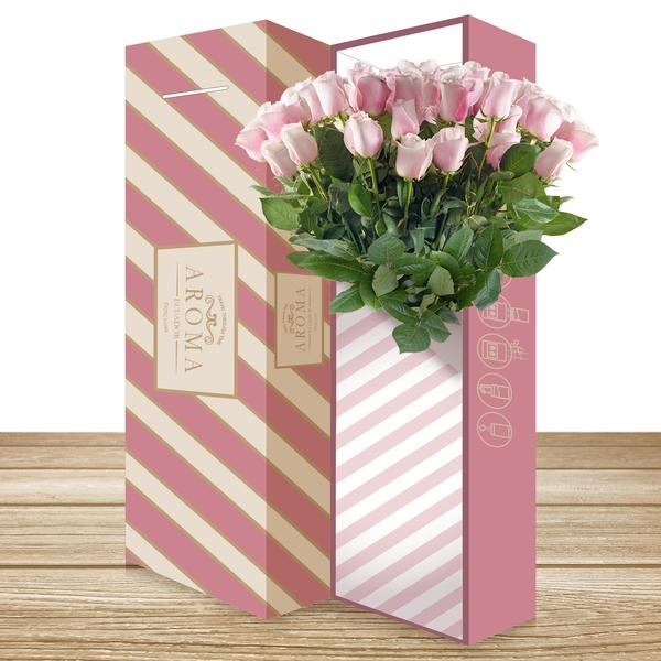 Rose Bouquet Light Pink THE CLASSIC BOUQUET - EbloomsDirect