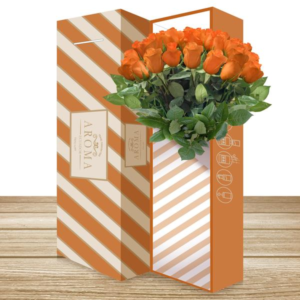 CLASSIC ROSE BOUQUET Orange - EbloomsDirect