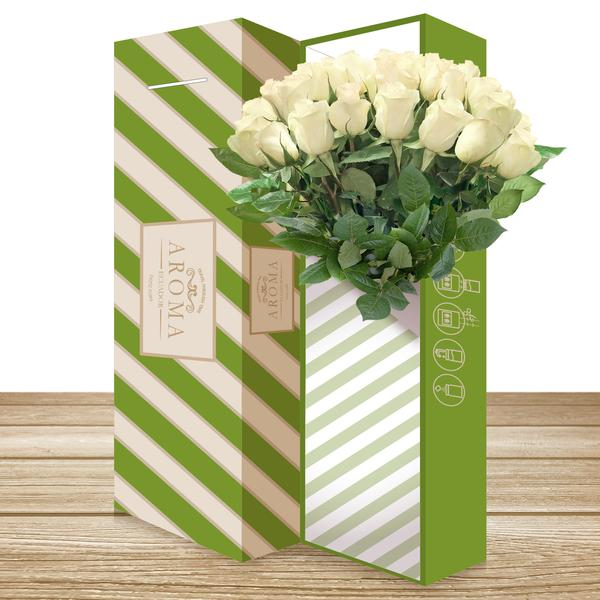 25 CLASSIC ROSE BOUQUET White