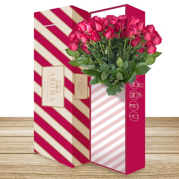 25 CLASSIC ROSE BOUQUET Hot Pink