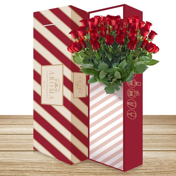 Rose Bouquet Red THE CLASSIC BOUQUET - EbloomsDirect