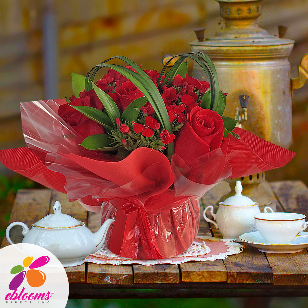 Centerpieces Touch of Class party Red - Pack 5 - EbloomsDirect