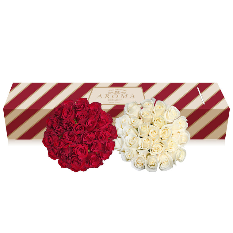 Red and white roses the best flower arrangements centerpieces and bouquets to order online for any ocassion  and Valentine's day