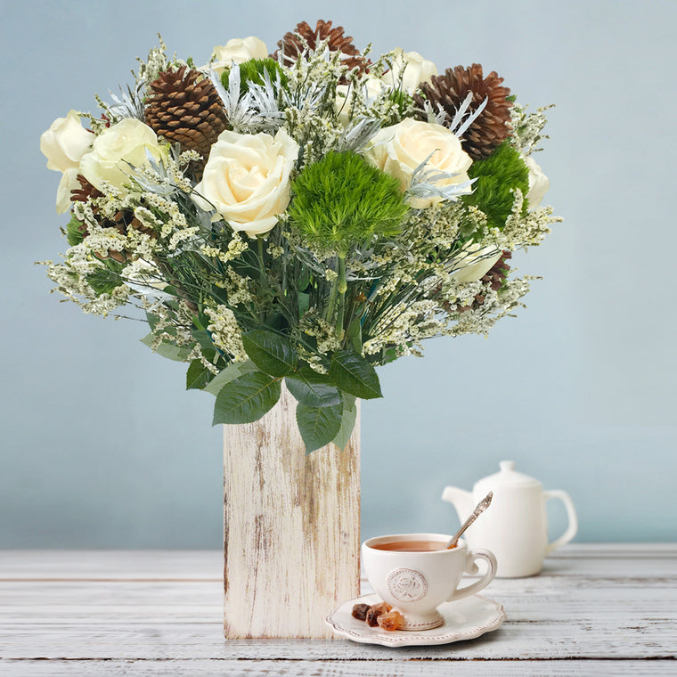 Winter Wonderland Mix Bouquets - Vase - EbloomsDirect