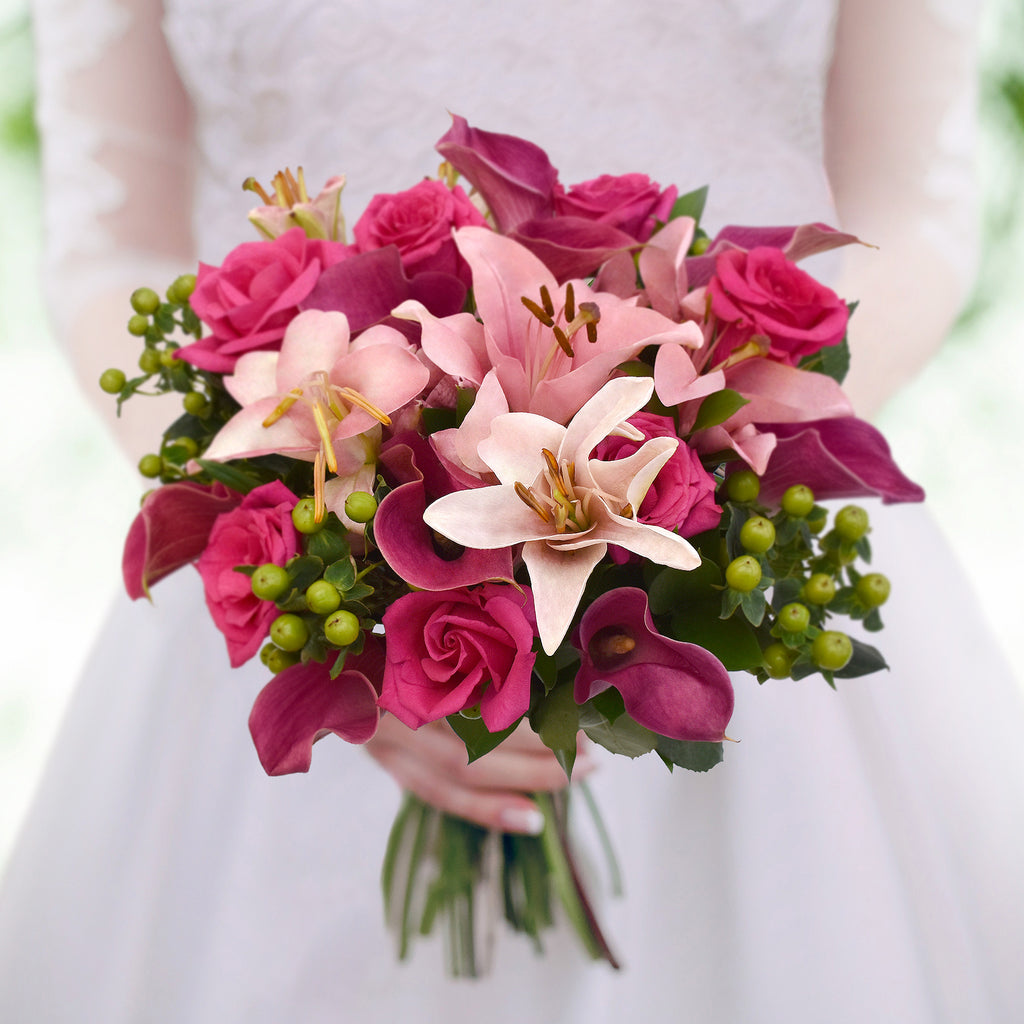 30 stems Mixed bouquet 50cm Royal Affair - Hot Pink/Light Pink - Pack 5- EbloomsDirect
