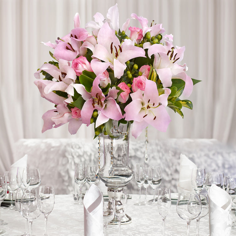 30 stems Mixed bouquet 50cm Royal Affair - Light Pink - Pack 5- EbloomsDirect
