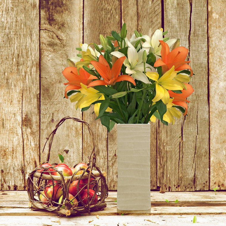 Autumn Splendor LA Hybrid Lilly Bouquet - Pack 4 - EbloomsDirect