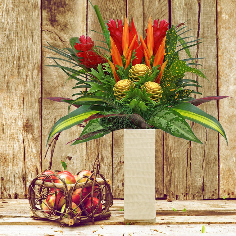 Autumn Shades Tropical Bouquet - EbloomsDirect