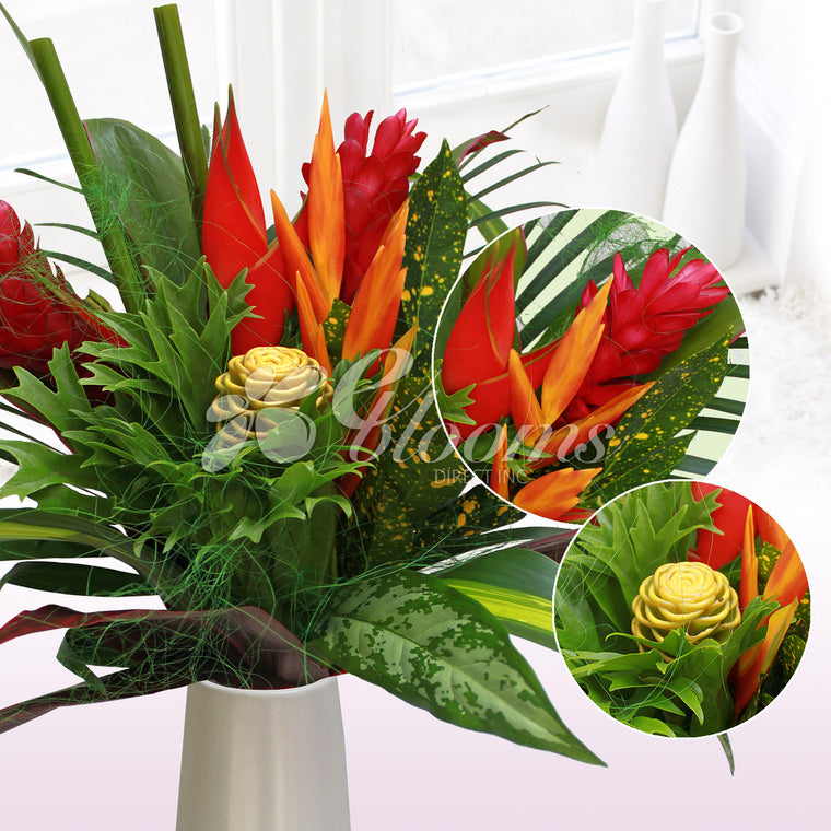 Bountiful Harvest Tropical Bouquets - EbloomsDirect