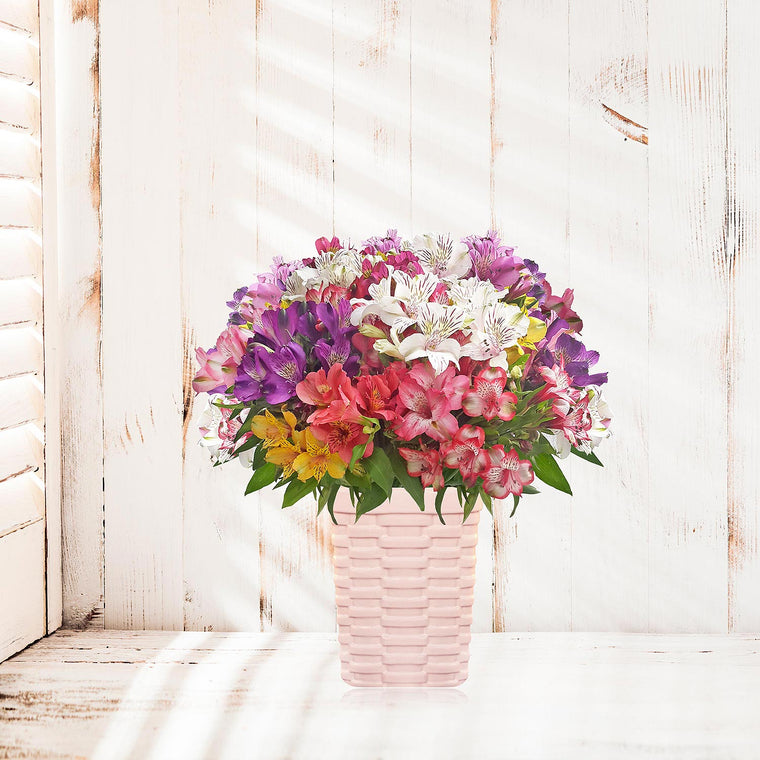 Spring Alstroemeria Rainbow Bouquet Pack 4- EbloomsDirect