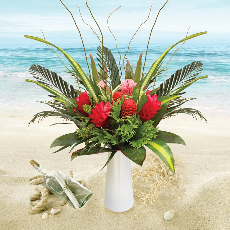 Message in a Bottle Tropical Bouquet - EbloomsDirect
