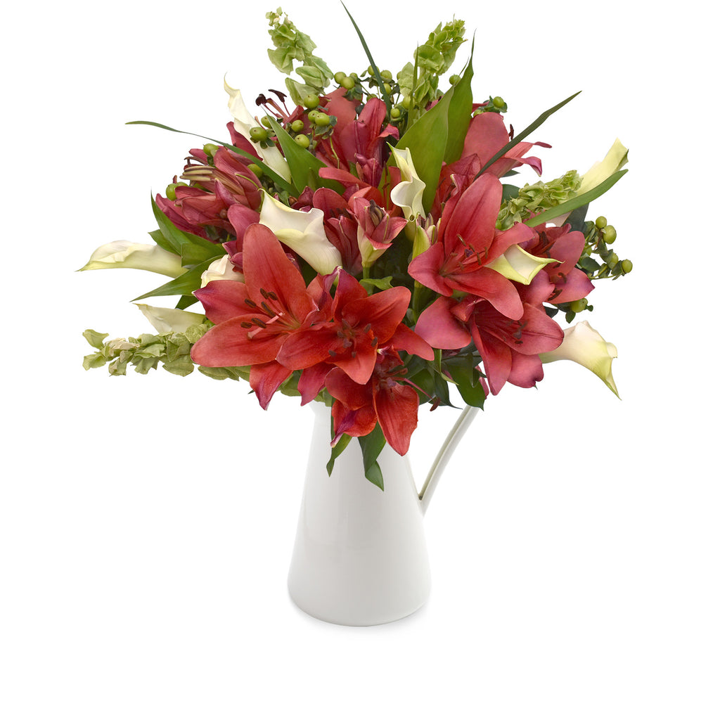 30 stems Mixed bouquet 50cm Sonoma Flair - Red and White - Pack 5 - EbloomsDirect