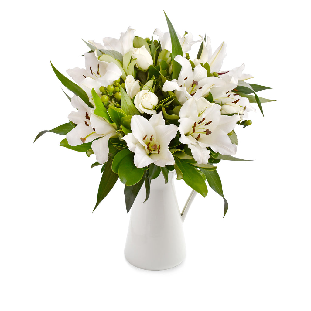 30 stems Mixed bouquet 50cm Simple Me! - White - Pack 5 - EbloomsDirect