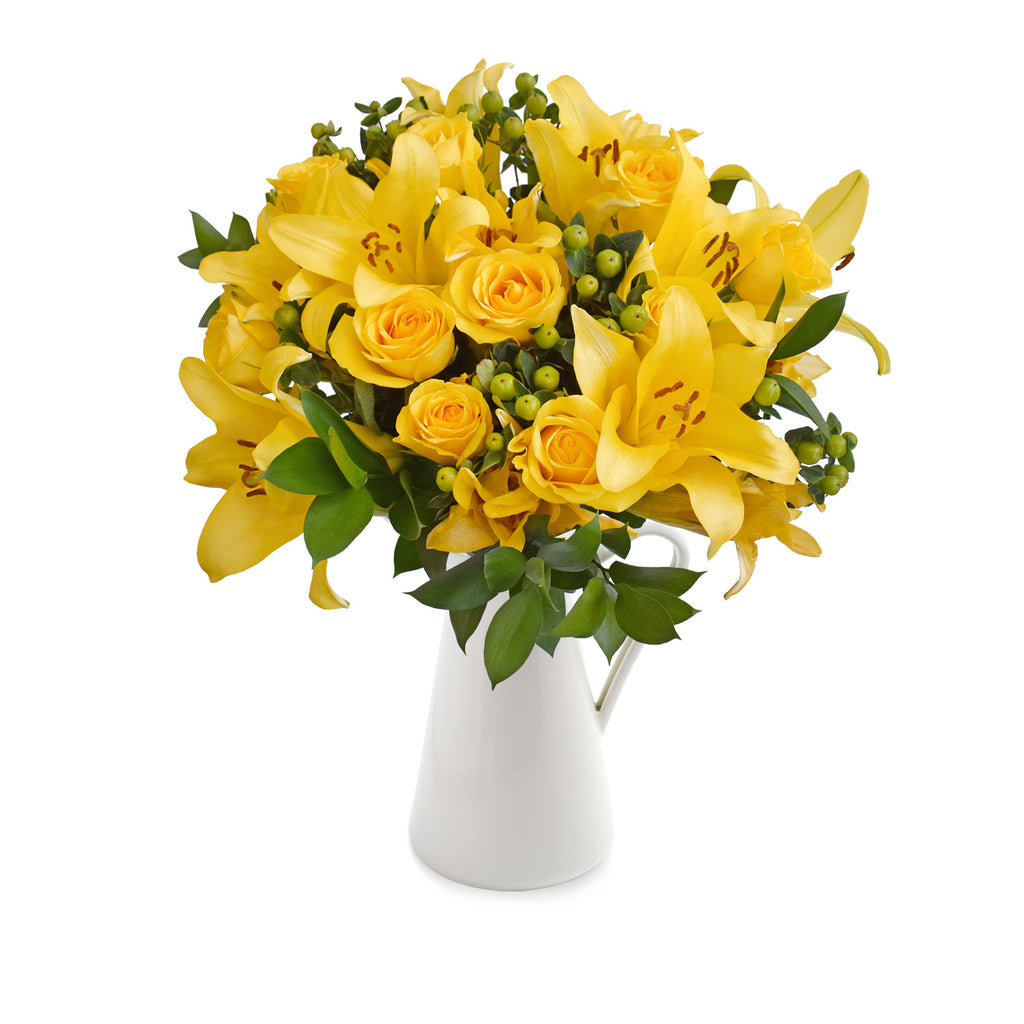 30 stems Mixed bouquet 50cm Graceful Elegance - Yellow - Pack 5 - EbloomsDirect
