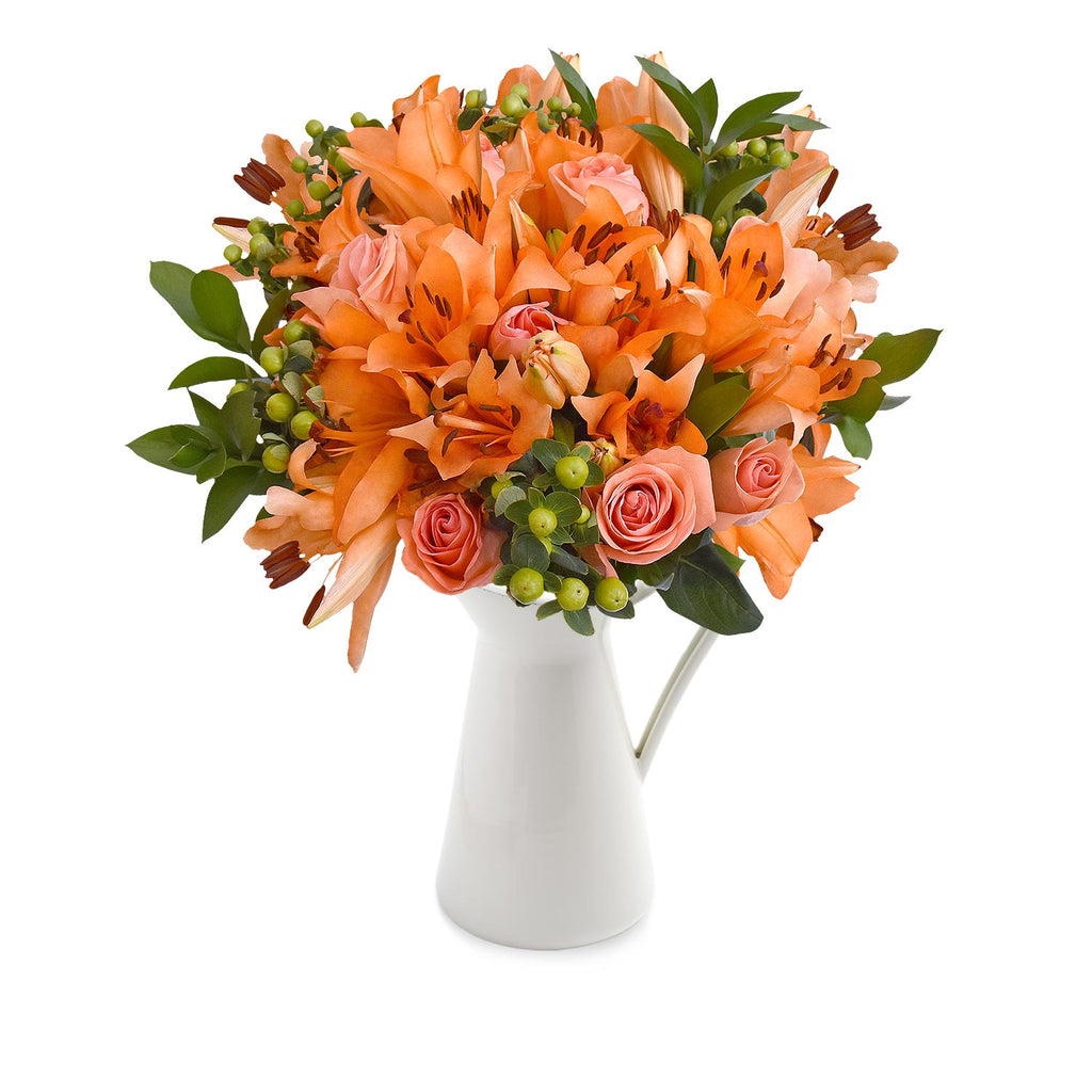 30 stems Mixed bouquet 50cm Royal Affair - Orange - Pack 5- EbloomsDirect