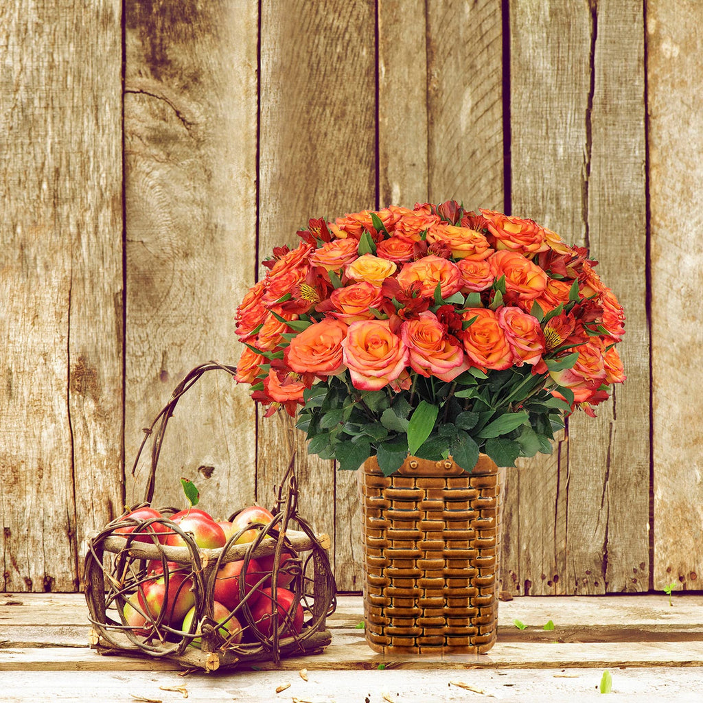 Orange Roses Bouquet - EbloomsDirect