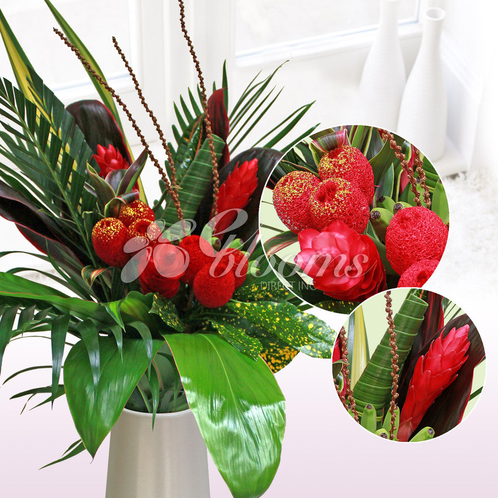 Peace, Hope and Love Tropical Bouquet - EbloomsDirect