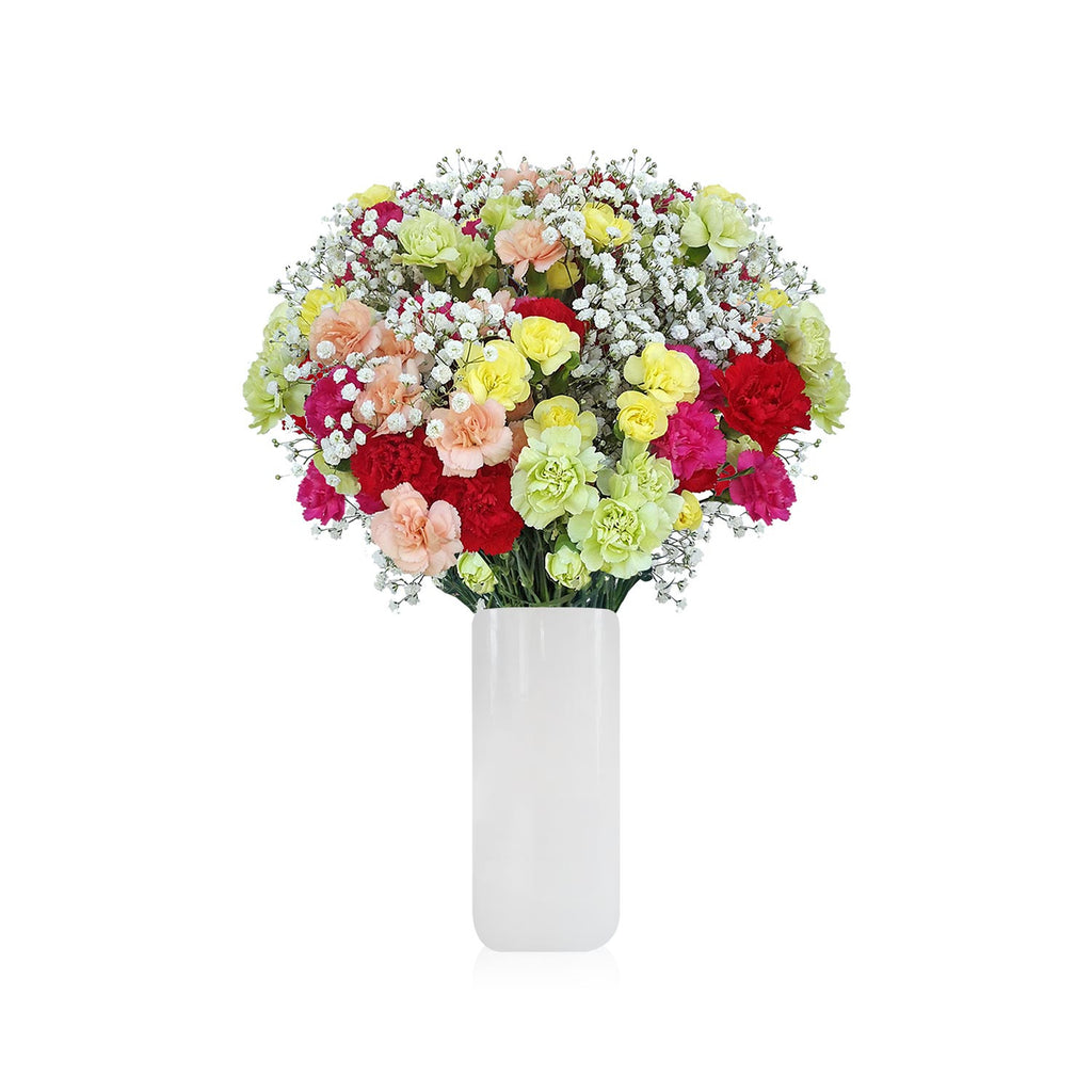 Mini Carnation and Gypsophila mix bouquet www.ebloomsdirect.com445