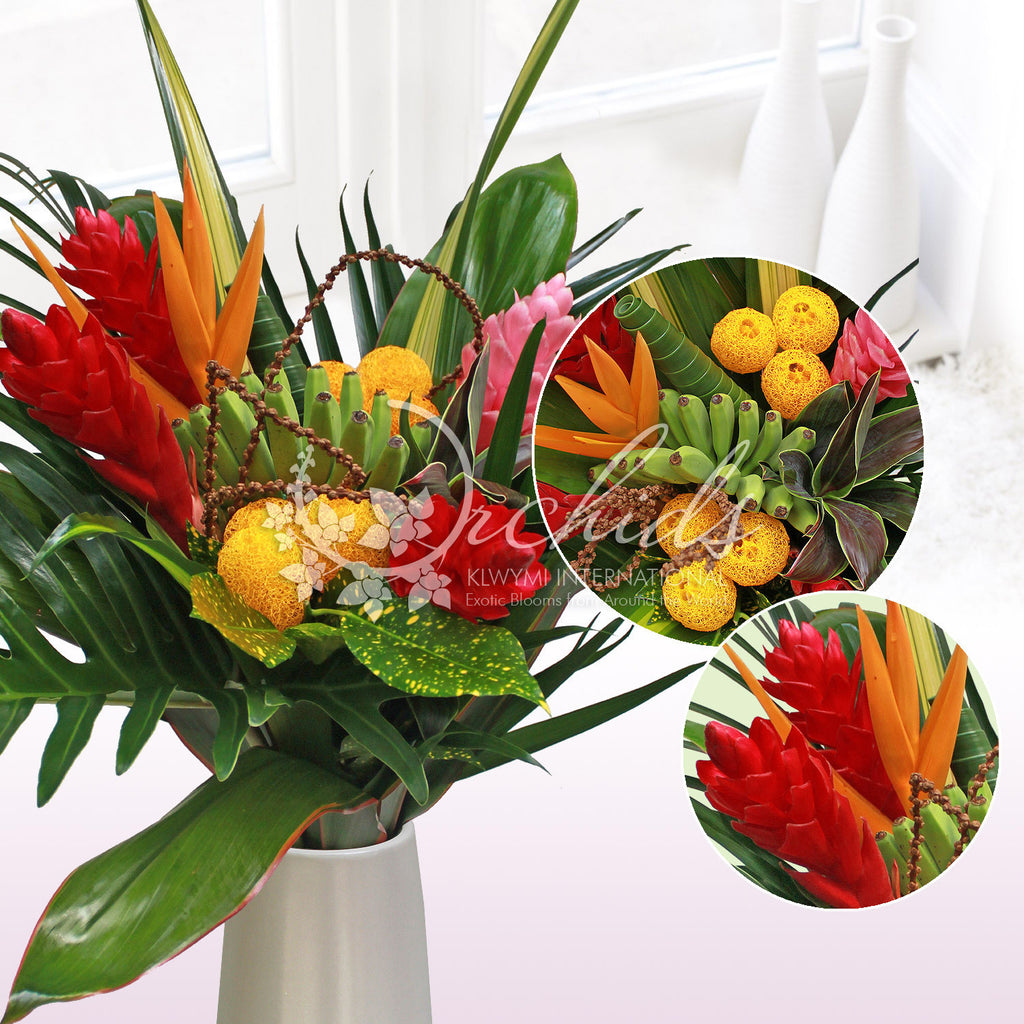Summer Rocks Tropical Bouquet - EbloomsDirect