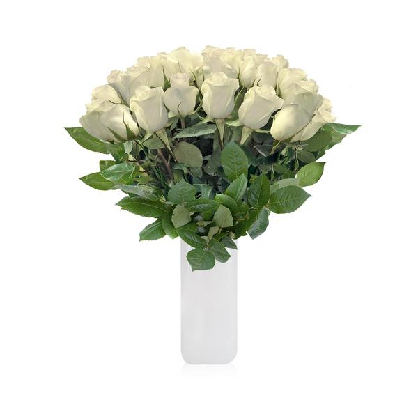 Rose Bouquet White THE CLASSIC BOUQUET - EbloomsDirect