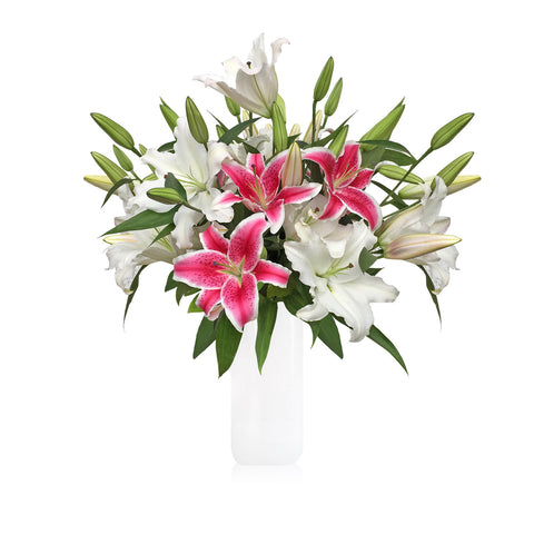 Starbrust Oriental Lilies Bouquet