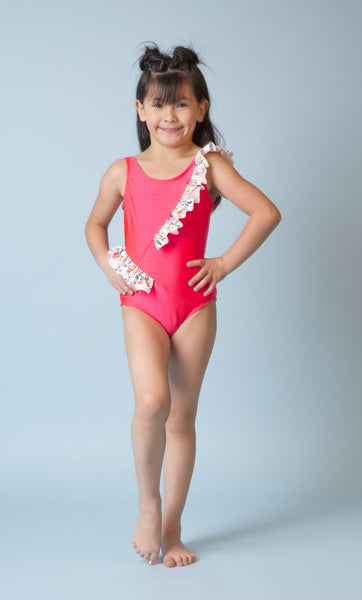 Girl's Sona One Piece Neon Pink