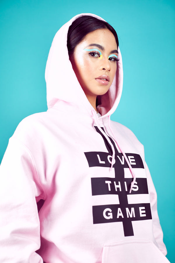 Womens Super Logo Hoodie - Light Pink