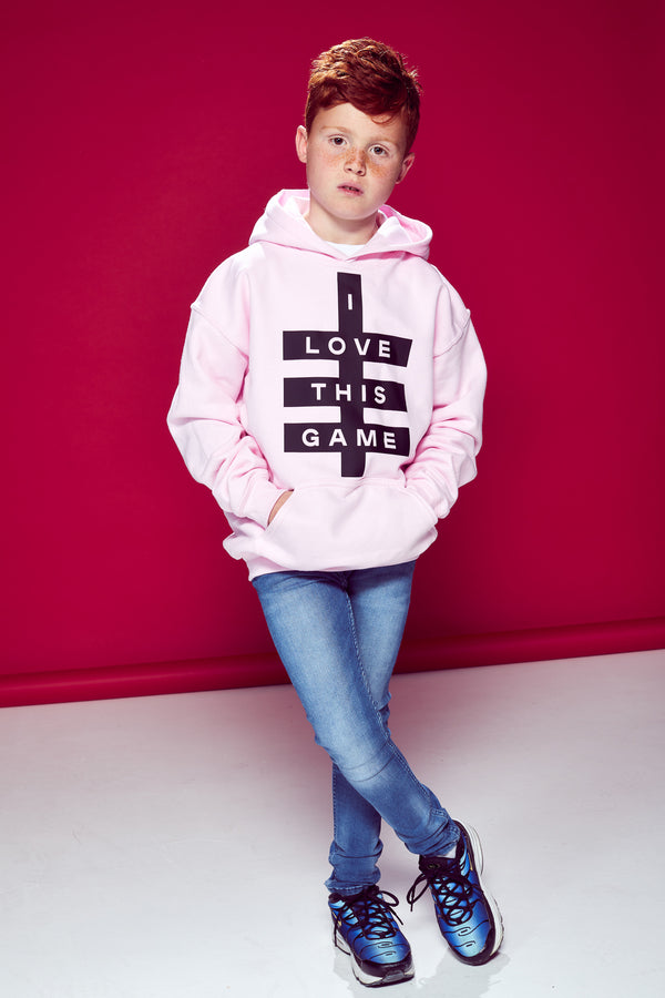 Kids Super Logo Hoodie - Light Pink