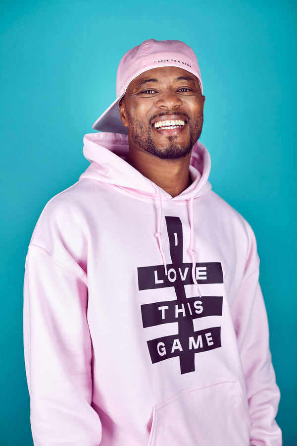 Mens Super Logo Hoodie - Light Pink