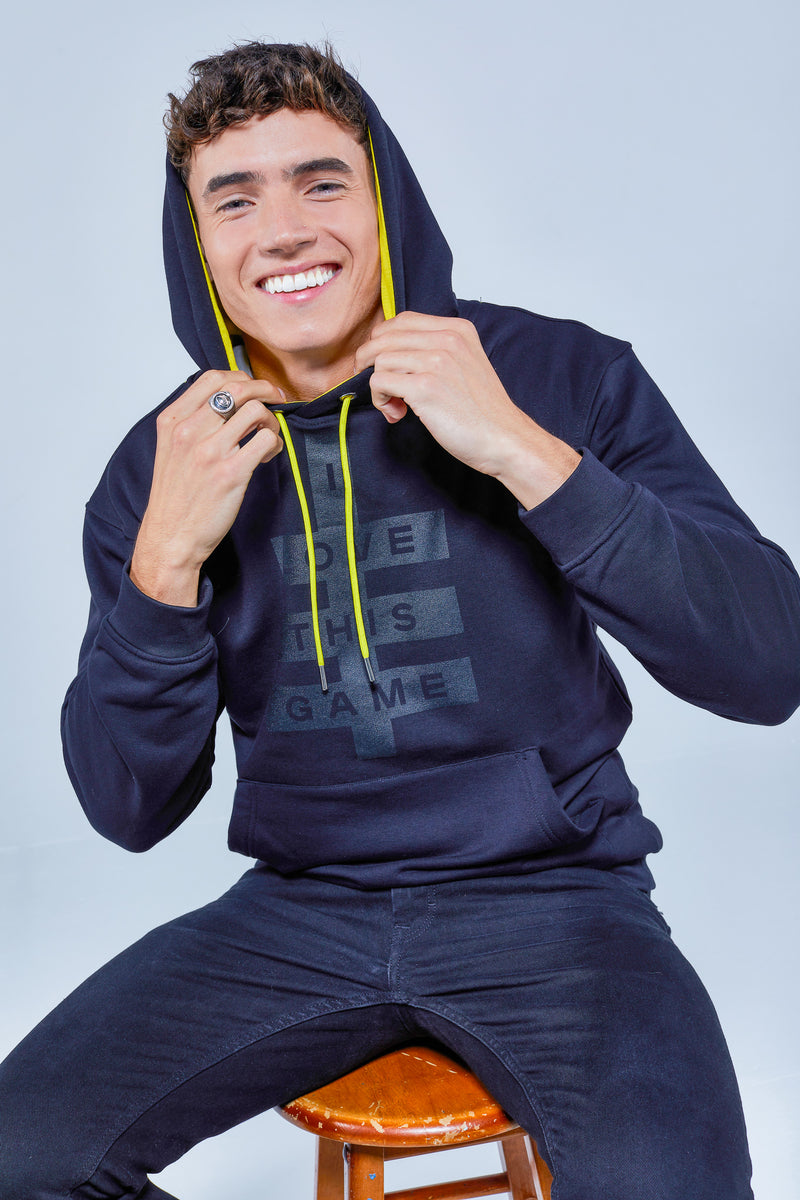ILTG Unisex Super Logo Hoodie Black/Yellow