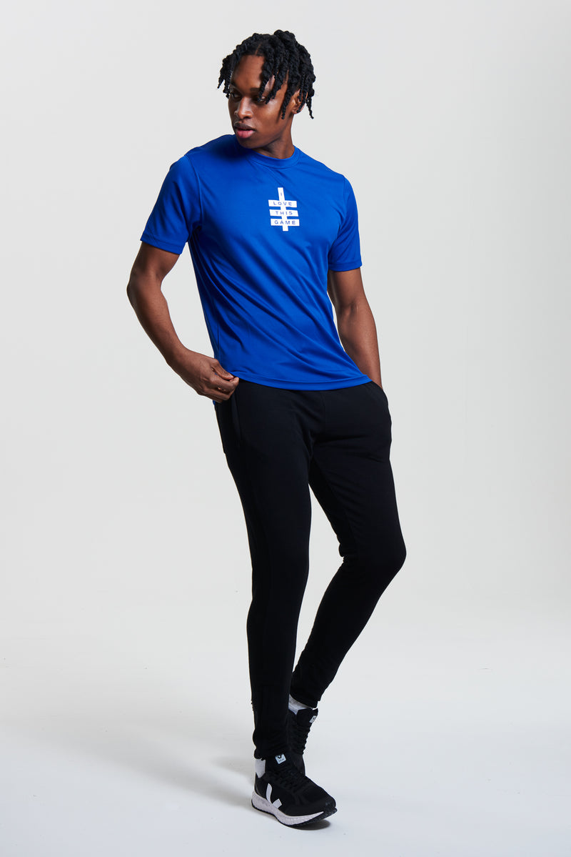 Men's Mini Super Logo ILTG Gym Tee - Blue