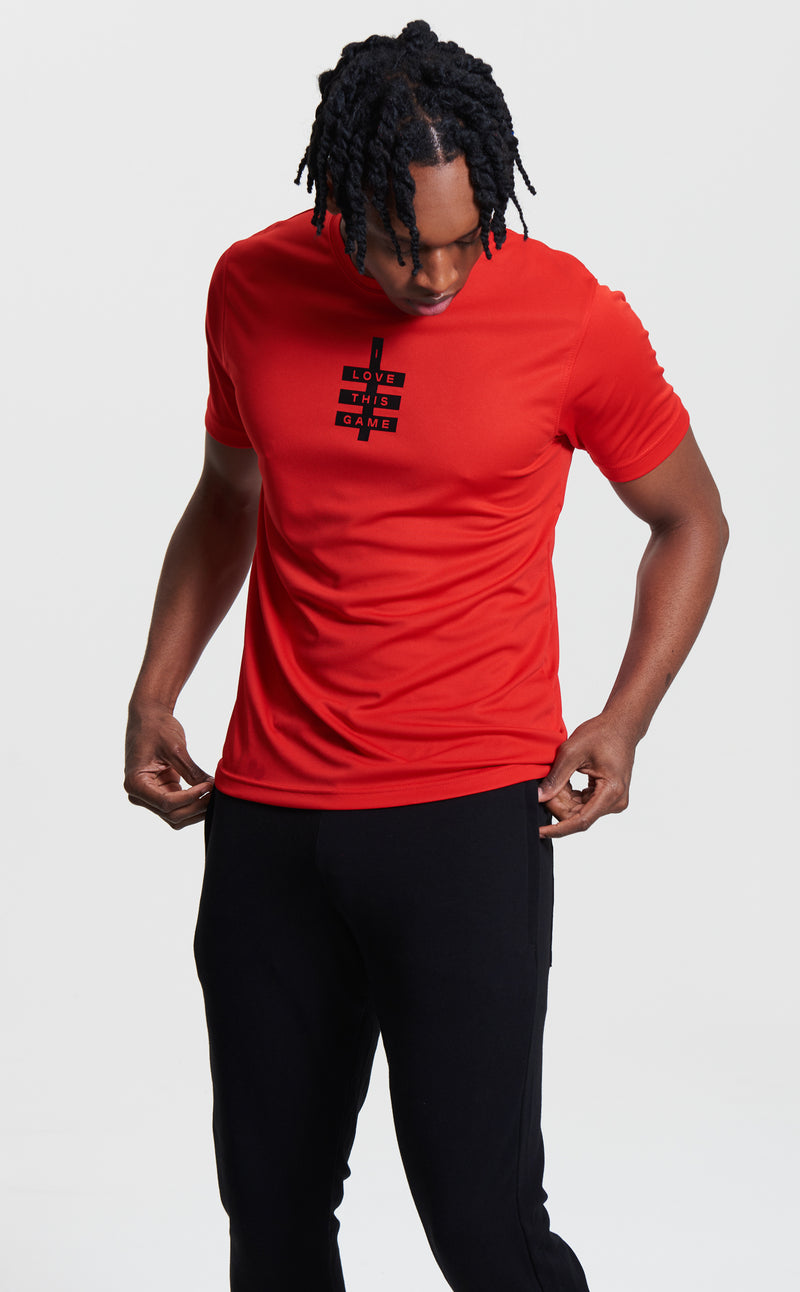 Men's Mini Super Logo ILTG Gym Tee - Red