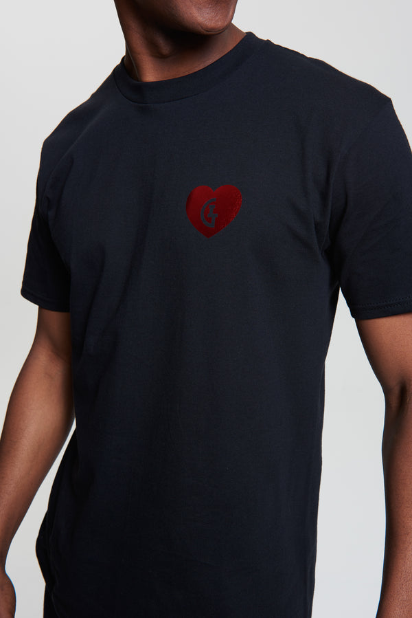 Limited Edition Valentine's Chrome Tee - Black