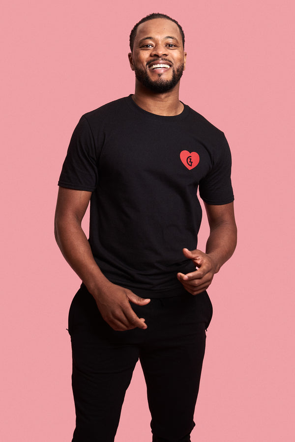 I Heart This Game Tee - Black