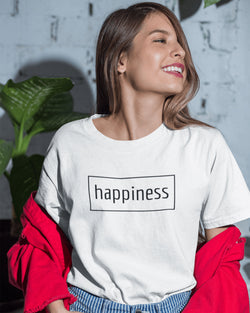 T-Shirt Donna happiness