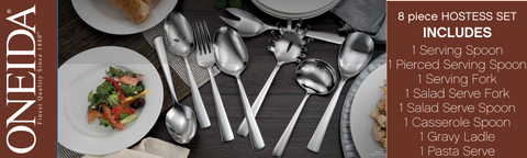 Oneida 8pc Stainless Steel Essential Serving Set