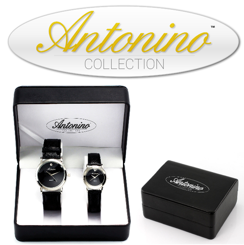 Silver Movado Style His/Her Watch Set