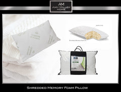 Amy Miller Deluxe Bamboo Shredded Memory Foam Pillow