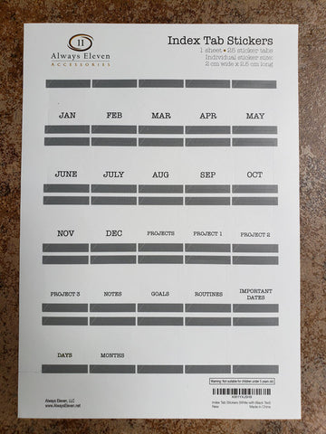 Monthly Calendar Tab Stickers