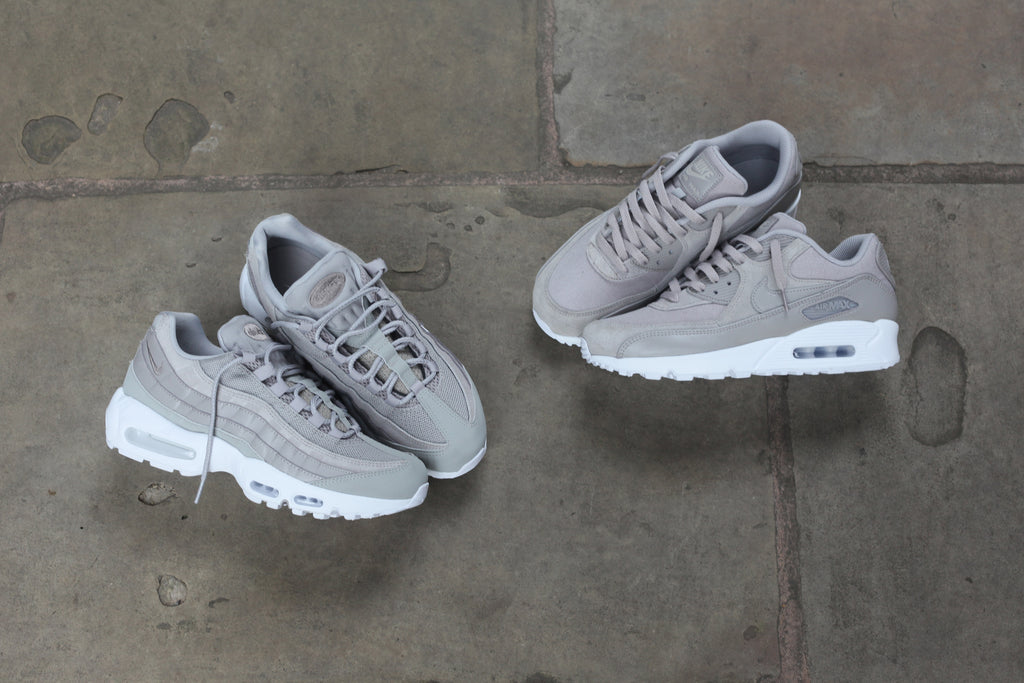 newest 3c4ed 09812 Another release from Nike for this week released along aside the PRM suede Air  Max 97 Pack is the Air Max 90 and 95 PRM Pack in Cobblestone   White ...