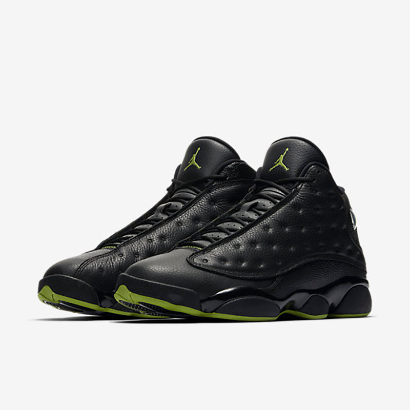 "new styles 3ff29 4aca4 NIKE AIR JORDAN XIII RETRO ""ALTITUDE GREEN"" In 2005, the Air Jordan XIII  arrived in a new colourway, inspired by number 23 s ""Black Cat"" alter-ego."