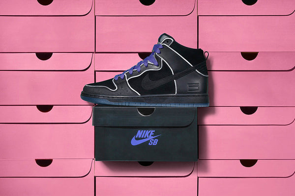 Nike SB Box Dunk High QS - Black/Purple