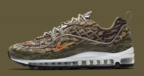 31b5e32df2 Returning for the end of the month we see the Nike Air Max 98 shoe bringing  back retro Air Max style with modern innovations. Its leather and mesh  upper ...